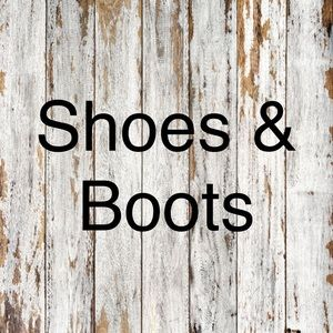 Shoes and boots below